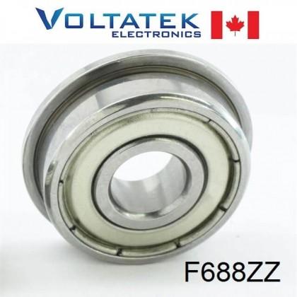 F688ZZ Flange Ball Bearing