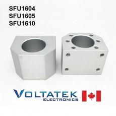 Ball Screw Nut Housing Bracket 1604 1605 1610 in Aluminum (DSG16H)