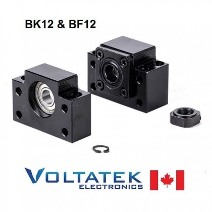 BK12 and BF12 Ball Screw End Bearing Supports for SFU1605 or SFU1610