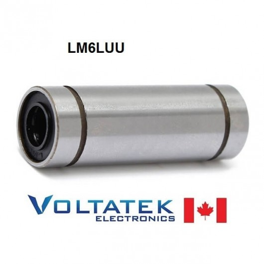 LM6LUU 6mm Long Linear Ball Bearing for CNC Router 3D Printer