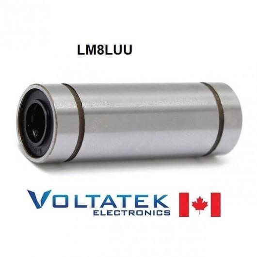 LM8LUU 8mm Long Linear Ball Bearing for CNC Router 3D Printer