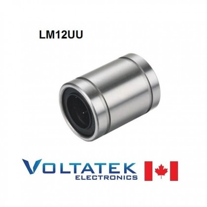 LM12UU 12mm Linear Ball Bearing for CNC Router 3D Printer