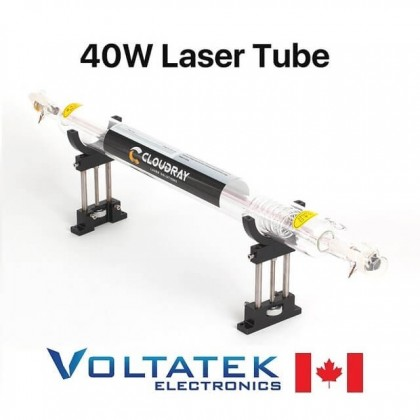 40W CO2 Replacement Laser Tube 700mm width 50mm diameter for Engraving Machine
