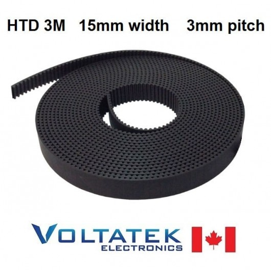 HTD 3M Timing Belt 15mm width 3mm pitch 5m long