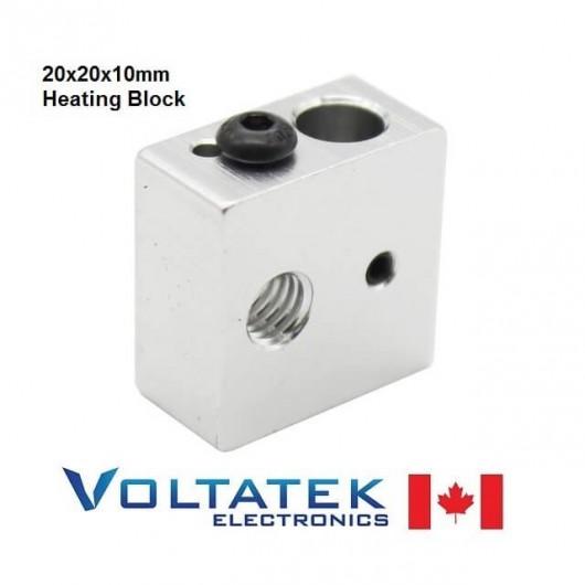 MK8 Heating Aluminum Block 20x20x10mm for 3D Printer Head