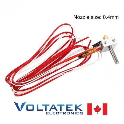 MK8 Heating Aluminum Block 1.75mm Filament 0.4mm Nozzle Head Kit for 3D Printer