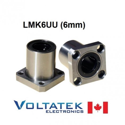 LMK6UU 6mm Flanged Linear Bearing for CNC Router 3D Printer