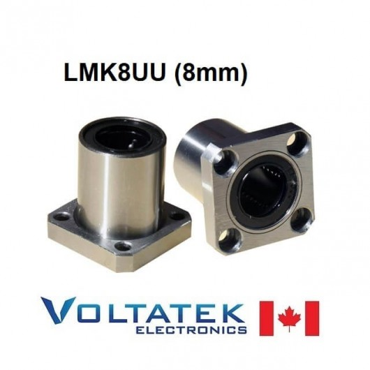 LMK8UU 8mm Flanged Linear Bearing for CNC Router 3D Printer