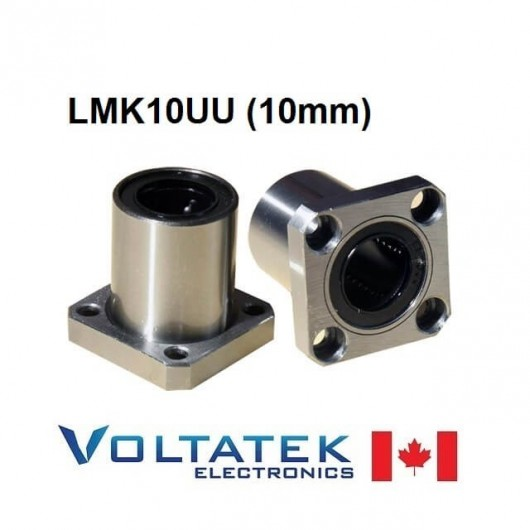 LMK10UU 10mm Flanged Linear Bearing for CNC Router 3D Printer
