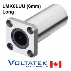 LMK6LUU 6mm Long Flanged Linear Bearing for CNC Router 3D Printer