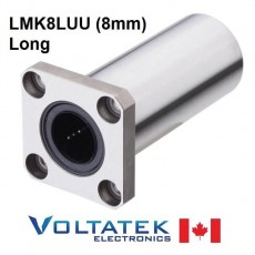 LMK8LUU 8mm Long Flanged Linear Bearing for CNC Router 3D Printer