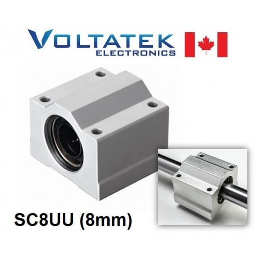 SC8UU (SCS8UU) 8mm Linear Bearing Block LM8UU for CNC Router 3D Printer