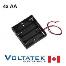 Battery holder box 4x AA 6V