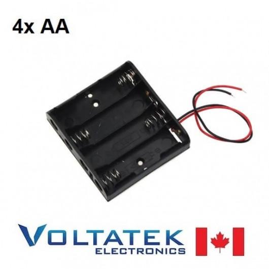 Battery holder box 4x AA 6V