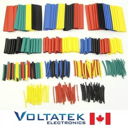 Heat Shrinkable Tube Sleeving Wrap Wire (304pcs x 9 Sizes Color Kit)