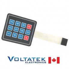 4x3 Membrane keypad 12 button matrix