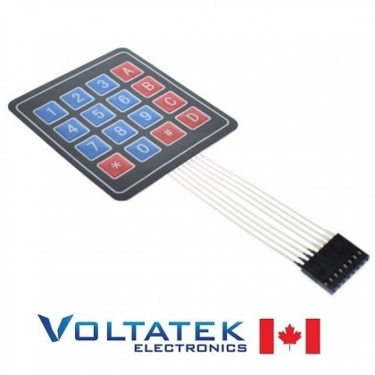 4x4 Membrane keypad 16 button matrix