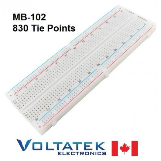 MB-102 830 Tie Point Solderless Breadboard