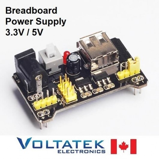 Breadboard power supply 3.3V & 5V for MB-102 MB102