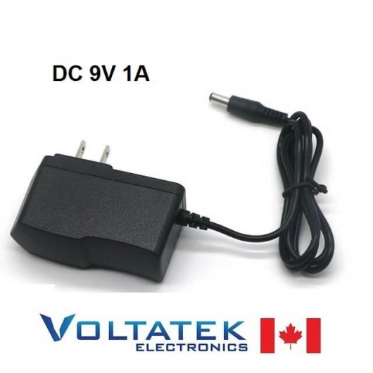 9V 1A DC Power Supply Wall Adapter