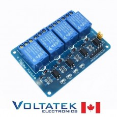 Relay Module 4 channels 5V with Optocoupler Isolation