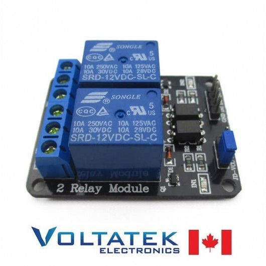 Relay Module 2 channels 5V with Optocoupler Isolation