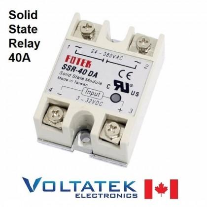 Solid State Relay 24V-380V AC - 40A 250V SSR-40 DA 3-32V DC To AC