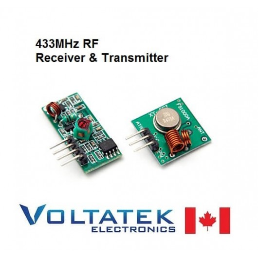 RF emitter receiver kit small 433Mhz for remote control
