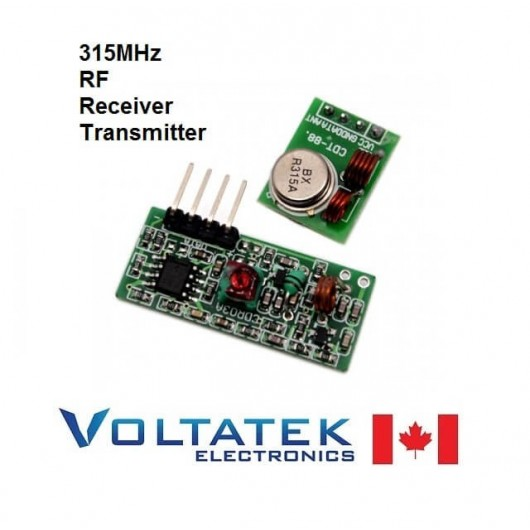 RF emitter receiver kit small 315Mhz for remote control