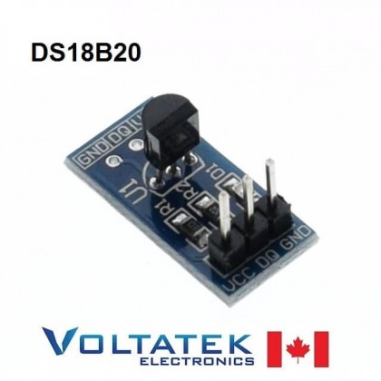 Temperature sensor DS18B20 module board