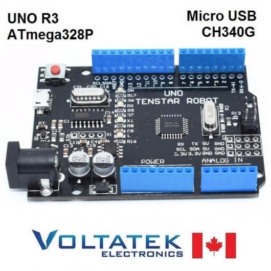UNO R3 ATmega328P/CH340G Micro USB Compatible with Arduino