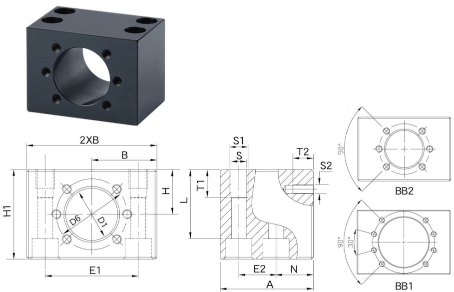 MGD specifications nut housing