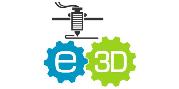 E3D 3d printers parts extruders Logo