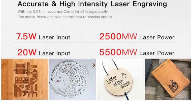 laser engraver 30x40cm specifications